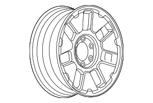 Wheel, Alloy - GM (9598475)
