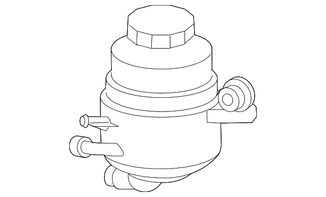 2003 2012 Mercedes Benz Power Steering Pump Reservoir 230 466 02 02