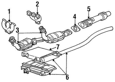 Ford Windstar Exhaust System Diagram On 1998 Ford Windstar Parts