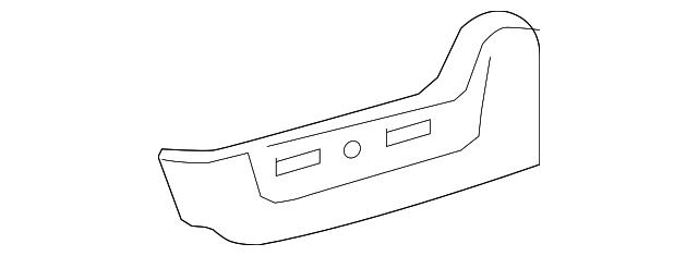 TOYOTA Genuine 71076-0T010-B1 Seat Cushion Cover