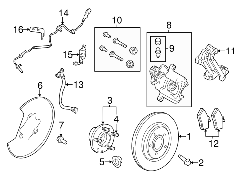 Brake Components for 2010 Lincoln MKS #0