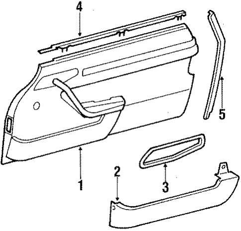 Interior Trim for 1989 Mercedes-Benz 560 SL #1