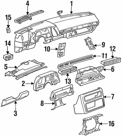 Instrument Panel For 1988 Chevrolet Cavalier Z24