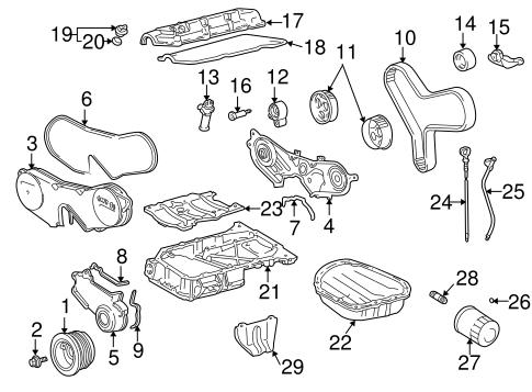engine parts for 2001 toyota highlander | toyota parts center  olathe toyota parts center