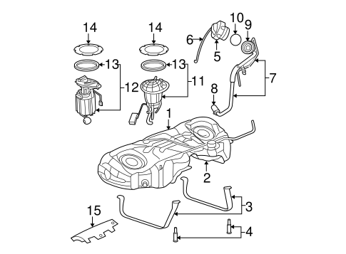 Fuel System Components For 2008 Dodge Charger