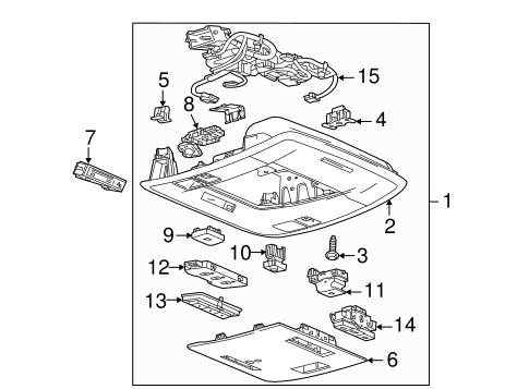 oem 2017 chevrolet silverado 1500 overhead console parts. Black Bedroom Furniture Sets. Home Design Ideas