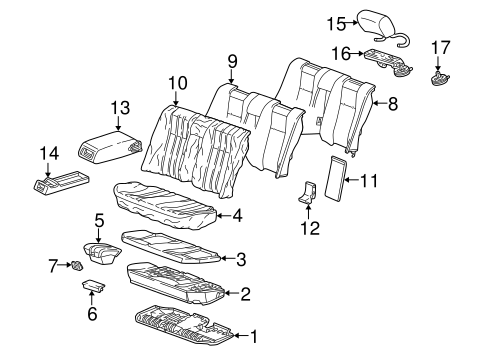 Rear Seat Components for 1996 Mercedes-Benz E 320 #0