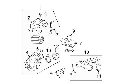 Oem 2007 Chevrolet Trailblazer Air Intake Parts