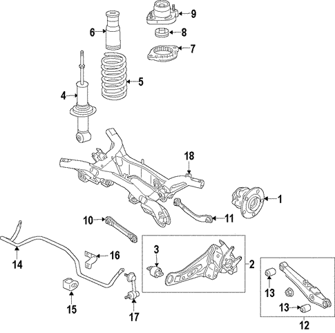 Rear Suspension for 2019 Mitsubishi Eclipse Cross #2