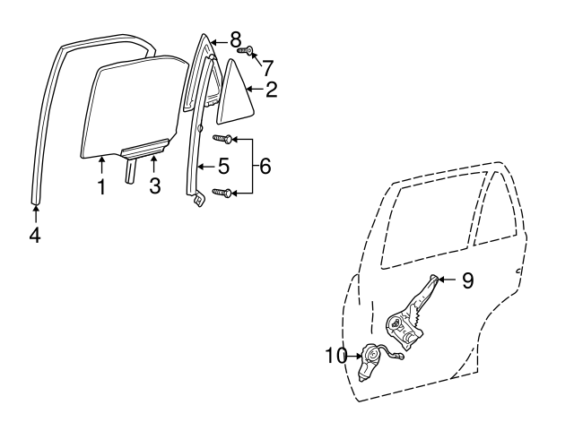 Toyota 69906-33020 Door Glass Channel Sub Assembly