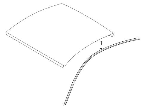 bodyexterior trim roof for 2017 porsche 718 cayman 1
