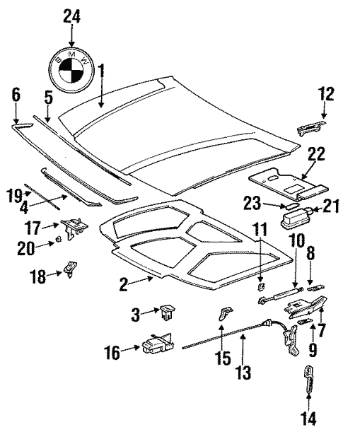 Hood Components For 1997 Bmw 328i