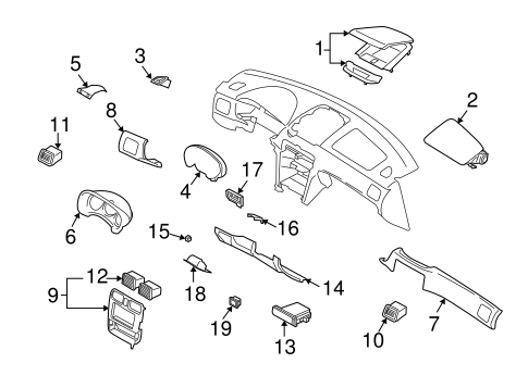 Instrument Panel Components for 2004 Subaru Forester #0