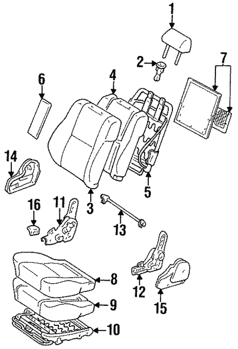 seat components for 1997 toyota land cruiser