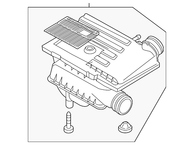 Genuine Volkswagen Air Cleaner Assembly 04e 129 611 G
