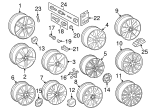Wheel, Alloy - Audi (4F0-601-025-D-8Z8)