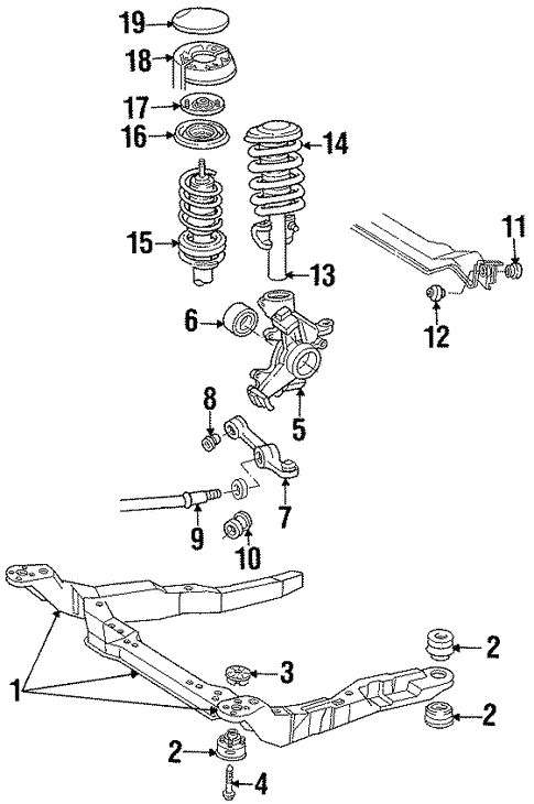 Ford Taurus Front Chassis Diagram