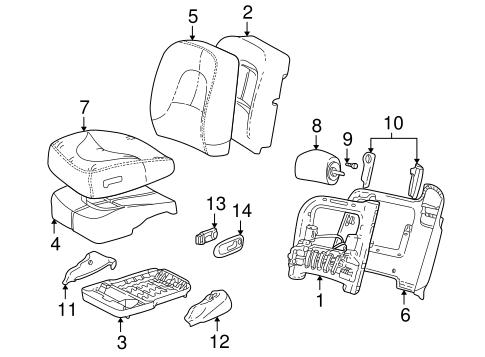 Oem 2001 Buick Park Avenue Front Seat Components Parts
