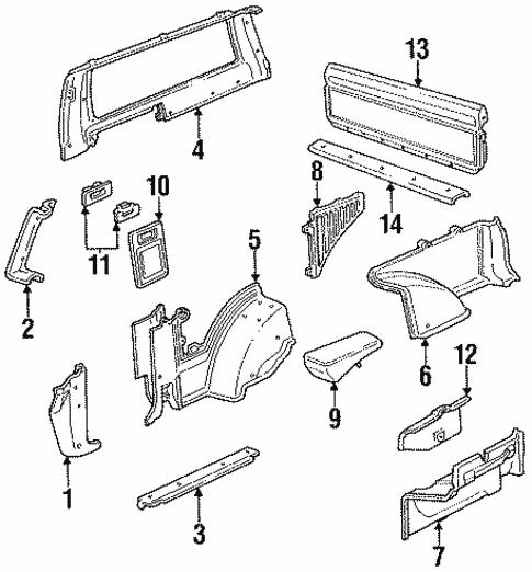 1993 Chevrolet S10 Blazer Interior: Interior Trim For 1994 Chevrolet S10 Blazer