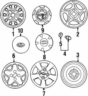 wheels for 1998 hyundai tiburon