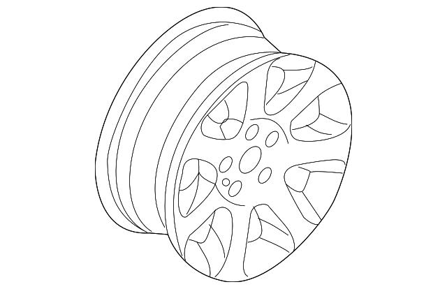 2008 bmw wheel  alloy 36