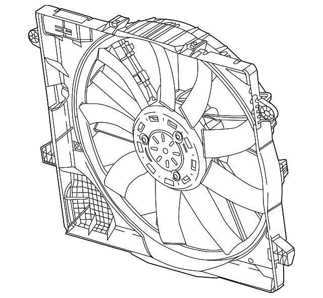 Fan Assembly Radiator Cooling