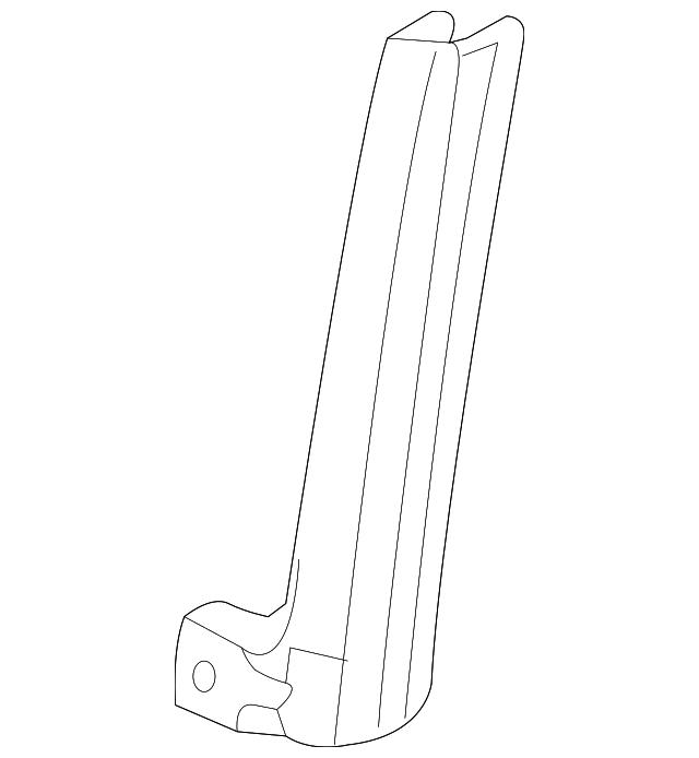 2014 Scion Iq Transmission: Sash, L Rear Door Center (Lower)