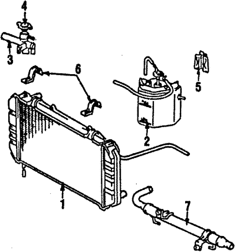 radiator  u0026 components for 1986 toyota mr2