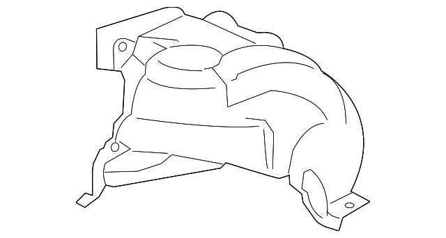 2012 2015 Bmw Rear Fender Liner 51 71 7 260 699