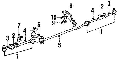 steering linkage for 1997 dodge ram 2500 #1