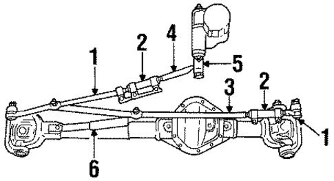 Mopar Outer Tie Rod 52106975aa