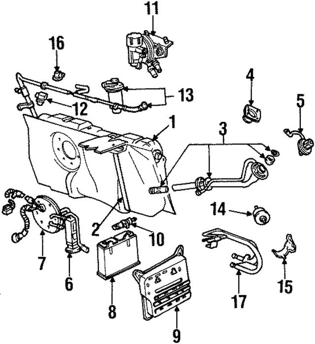 Ford Lincoln Mercury Fuel Tank Pressure Sensor Genuine Oem New