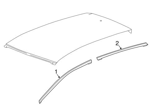 bodyexterior trim roof for 2017 chevrolet bolt ev 1