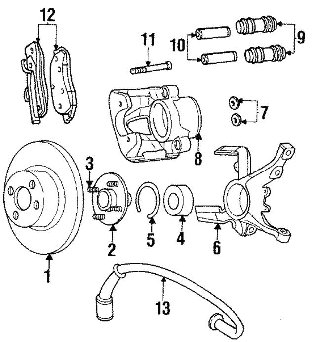 1997 Dodge Neon Bearing Snap Ring 6504592
