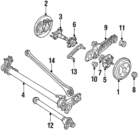 Spindle Assembly, L Rear Wheel