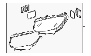 Headlamp Assembly - Mercedes-Benz (217-906-42-00)