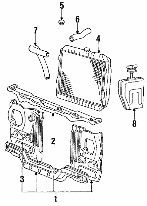 Radiator Support for 1993 Mitsubishi Mighty Max | Auto Parts