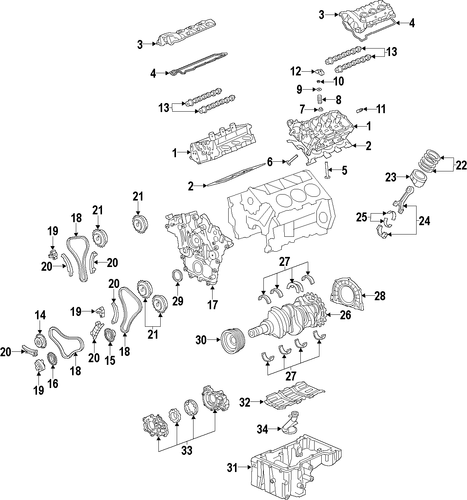 OEM 2011 Chevrolet Equinox ENGINE Parts | GMPartsOnline.net