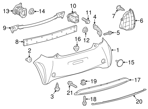 BODY/BUMPER & COMPONENTS - REAR for 2015 Scion iQ #1