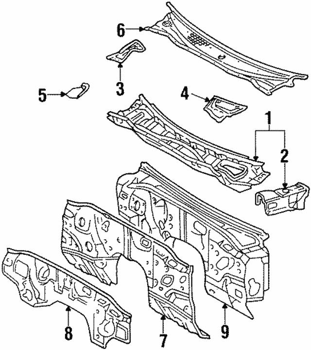 1993 1998 Toyota Supra Insulator 55223 14040