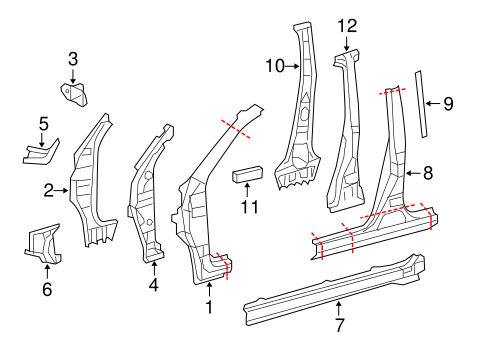 BODY/HINGE PILLAR for 2006 Toyota RAV4 #1