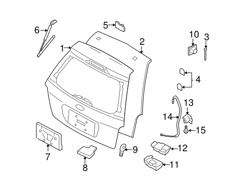 Lid Amp Components For 2006 Ford Freestyle Oemfordpart Com