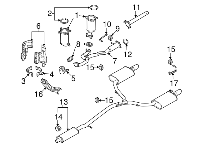2008 2012 Ford Intermediate Pipe Gasket 8g1z 5e241 A