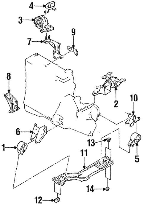 Engine Trans Mounting For 1995 Kia Sephia Oekiapartsdirect