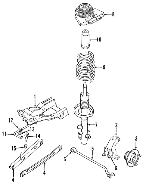 Rear Suspension for 1996 Ford Contour #1