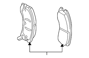 Disc Brake Pad Set - GM (19259588)