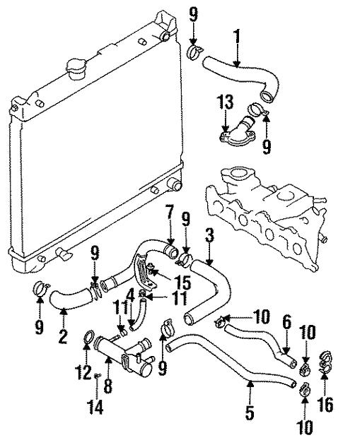 Radiator Hoses For 1998 Chevrolet Tracker