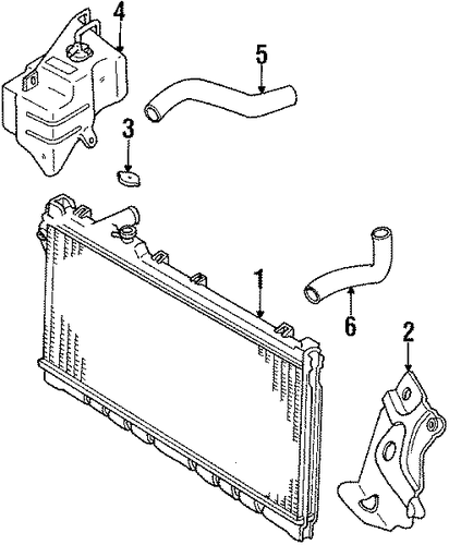 radiator  u0026 components for 1995 mazda miata
