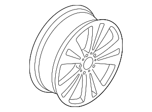 Wheel, Alloy - Volkswagen (1K8-601-025-S-88Z)