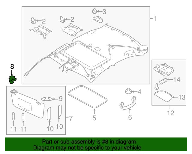 NEW 08-17 Subaru Sunvisor Hook Clip Crosstrek Impreza Outback OEM  92018FG001ME - Subaru (92018FG001ME) ddf9f061fb1